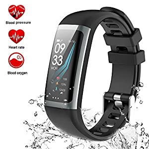 Fitness Armband, Teamyo Fitness Tracker mit Pulsmesser Aktivitätstracker, Herzfrequenzmonitor, Farbbildschirm Bluetooth Smart ArmbandUhr Schrittz?hler, Smart watch IP67 Wasserdicht SchlafMonitor (G26-3)