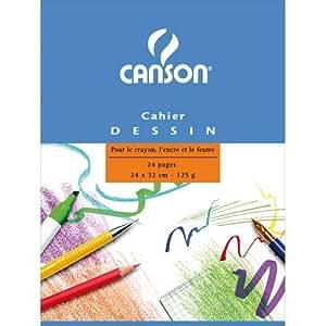 Canson Cahier à dessin 245x315 24 pages uni Lot de 15