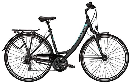 Fahrrad 28 Zoll schwarz - Pegasus Piazza Citybike Tiefeinstieg - Shimano Kettenschaltung, STVZO Beleuchtung