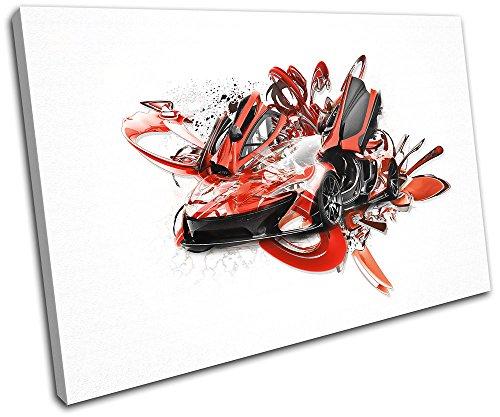 bold-bloc-design-mclaren-p1-abstract-modern-cars-45x30cm-single-leinwand-kunstdruck-box-gerahmte-bil