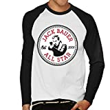 Cloud City 7 Converse Jack Bauer 24 All Star Men's Baseball Long Sleeved T-Shirt