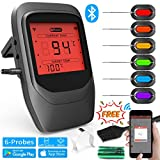 Fixget Kitchen Thermometer, Cooking Thermometer Bluetooth BBQ Thermometer Food Thermometer Wireless Remote Digital