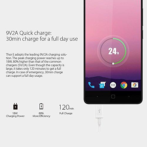 Vernee Thor E Smartphone 4G LTE 3GB RAM 16GB ROM Bater  a 5020mAh Android 7 0 MTK6753 1 3GHz Octa Core 5 0 Pulgadas C  mara 13MP   5MP Dual SIM Quick