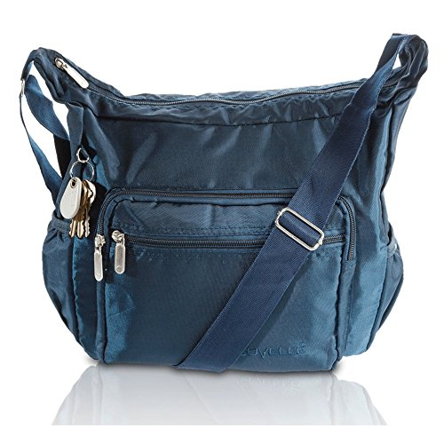 Zip-around Laptop-tasche (SUVELLÉ Lightweight Hobo Travel Everyday Crossbody Bag Multi Pocket Shoulder Handbag 9020)