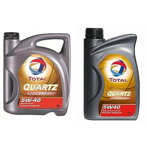 Total Quartz 9000 5W40 Motorenöl,6 Liter (5L +