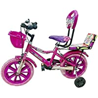 Global Bikes Barbie 16T (Pink) Kids Bicycle 5 to 8 Years Fully Adjustable with Back Support for Boys and Girls (16T,Pink)