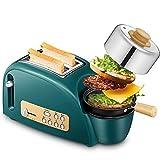 BCXGS Tostapane ha 5 bancarelle Regolabili, Macchina per Il Pane può scongelare e Riscaldare Il Pane, Tostapane Multifunzione con griglia per cuocere a Vapore, bollire e friggere Vari Alimenti