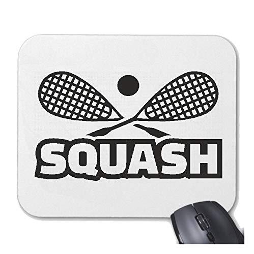 Helene Mousepad (Mauspad) Squash - SQUASHSCHLÄGER - SQUASHSPIELER - SQUASHHALLE - Squash Ball für ihren Laptop, Notebook oder Internet PC (mit Windows Linux usw.) in Weiß