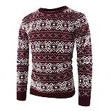 Herren Pullover Herbst Winter Gestrickte Outwear Btruely Langarm Sweatshirt Printed Sweater Warm Mantel Männer Pullover Slim Fit Langarmshirt
