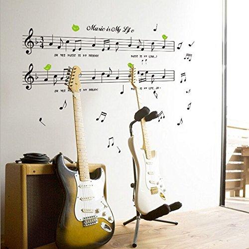 Weaeo Personal Notes Musik Unterricht Kindergarten Klavier Instrument Kinderzimmer Wand Aufkleber Home Decor Wandbild Aufkleber