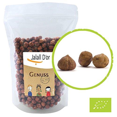 Haselnüsse bio Jalall D'or | 1kg | naturbelassen | Haselnusskerne BIO zertifiziert | frisch abgefüllt | wertvolle Vitamin E-Quelle | natürlicher Kalium-Lieferant | Haselnuss bio (1000 g)