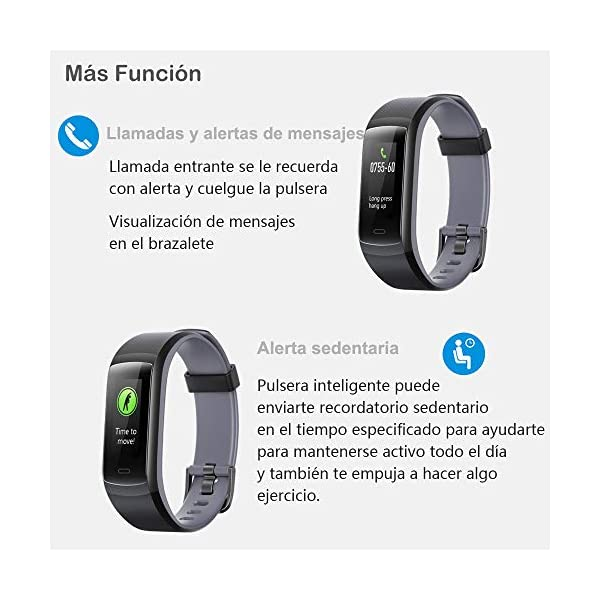 willful Pulsera de Actividad, Pulsera Inteligente con Pulsómetro Reloj Inteligente Impermeable IP68 Pulsera para Deporte Pulsera Actividad Inteligente para Mujer Hombre Niño para Android iOS Teléfono 8