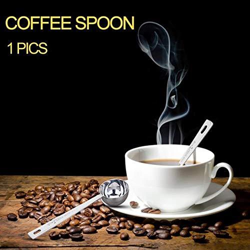 Makwes 1 Einstellen Rostfrei Stehlen Messung Löffel Tee Kaffee Pulver Messen Kochen Scoop,Das Unternehmen Familie,Geeignet für Cafés,Mädchen Dame Mann Erwachsener (Silber) - Gitarre Kleinkind Tee