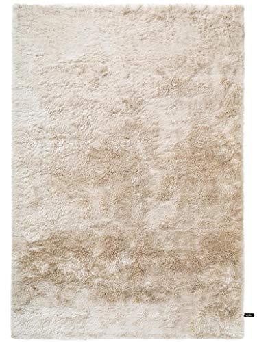 benuta Shaggy Hochflor Teppich Whisper Beige 120x170 cm | Langflor Teppich für Schlafzimmer und Wohnzimmer