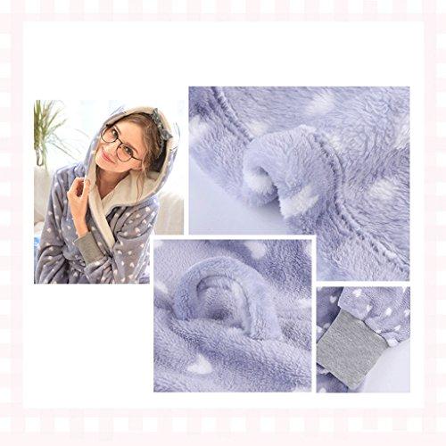 ZLR Inverno Lady Pigiama Ispessimento Sleep Robe Casual Circle Dot Home Abbigliamento Accappatoio ( dimensioni : D-L )