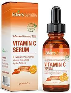 25 vitamin c serum 30ml eine leistungsstarke hochentwickelte formel hyalurons ure retinol. Black Bedroom Furniture Sets. Home Design Ideas