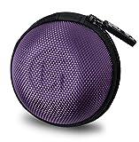 #10: GoFree Orb Case for Earphones, Pen Drives, SD Memory Cards, Keys, Coins Etc. [ Multi Purpose Case ] Shock Proof Ballistic Nylon (Orchid Purple)