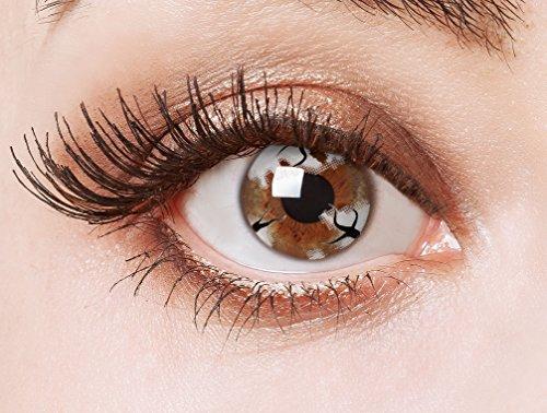 eiße Kontaktlinsen für ein Geisterbraut Halloween Kostüm (Weisse Augen Halloween-kostüm)