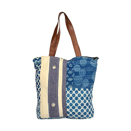 Priti Vintage Design Rugs & Canvas Patch Work Utility Tote Bag Handbag