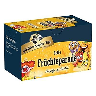 Goldmännchen Thé Jaune Parade des Fruits, Mélange Fruité, 2 Sachets Emballés Individuellement