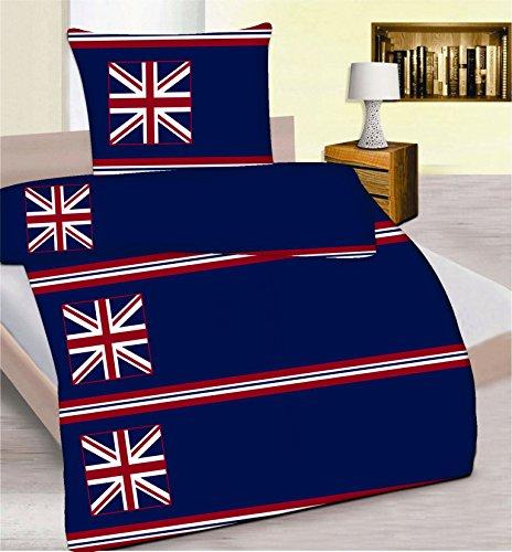 Mirkrofaser Bettwäsche 2 teiliges Set ca. 135 x 200 cm Flagge USA und UK mit Reißverschluss -NEU- von Brandseller