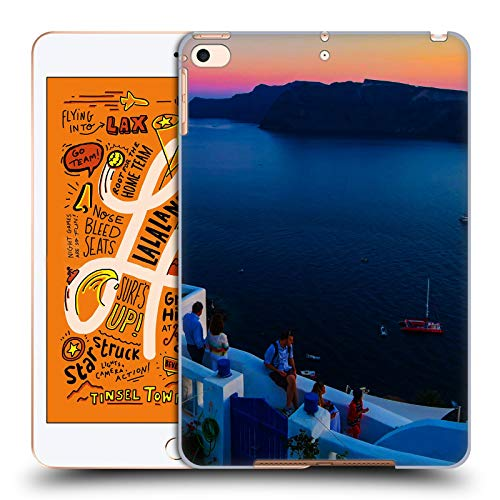 Head Case Designs Offizielle Haroulita Terrasse Santorini Sonnenuntergang Harte Rueckseiten Huelle kompatibel mit iPad Mini (2019) - Terrasse Sonnenuntergang
