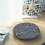 XMZDDZ Verdicken Sie Runde Stuhlkissen,Tatami Kissen Für Auto Stuhl-Pads Boden Mat Sitz Sitzkissen Erwachsenen Sitzerhöhung-A Durchmesser43cm(17inch)