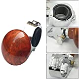 #8: Imported Car Auto Steering Wheel Spinner Handle Knob Booster Aid Ball Turner-Black