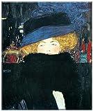 Bildnis einer Frau mit Hut , Bild von Gustav Klimt , Grösse 75 cm x 90 cm , Digitaldruck (Giclee) auf Leinwand gedruckt , mit Keilrahmen , Seiten (3 cm tief) gespiegelt , Museumskunst Jugendstil , Wohnen und Dekoration, Leinwandfertigbild direkt zum Aufhängen