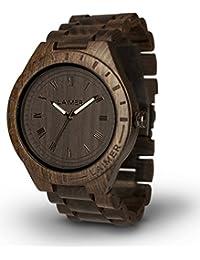 LAiMER Holzuhr BLACK EDITION - Herren Armbanduhr aus Sandelholz für einzigartigen Tragekomfort und Lifestyle - natürlich, federleicht, Südtirol