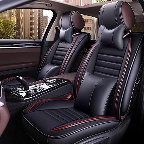Chemu Set di coprisedili per auto, nero, in pelle, 13 pezzi, protezione per sedile, impermeabile, adatto per la maggior parte delle auto ,suv v