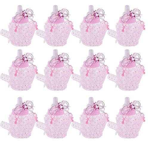 arty Milch Flasche Form Geschenkbox - Rosa (Baby-mädchen-bevorzugung Boxes)