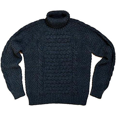 Maglia Jumper Uomo Men Fred Perry Made In Italy maglione Lana Alpaca BLU