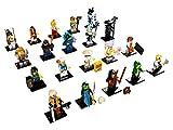 THE LEGO® NINJAGO® MOVIE™ 71019 Kompletter Satz mit allen 20 verschiedenen Figuren sowie zusätzlich je 2 GALAXYARMS Saigabeln, Katanas, Doppelklingen in Gold und Silber (71019-Alle20)