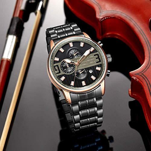 AK Ultrafino Impermeable Luminoso Deportes Moda Ronda Cronógrafo Reloj Casual Reloj Hombre Business...