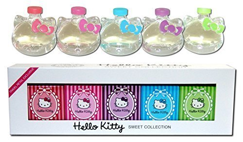 Hello Kitty Eau de Toilette Parfüm Düfte Sweet Collection Duft EdT Sweet Collection Eau de Toilette 5x 5ml (Parfums Hello De Kitty)