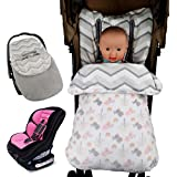 Vine Saco de dormir para bebé Manta para capazos y sillas de coche para bebé?para el asiento del bebé en el coche Saco portabebés