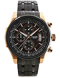 FOCE Analogue Black and Rose Gold Dial Men's Formal Chronograph Watch - [FS07TRM-BLACK]