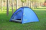 KingCamp–Zelt Camping Dome Backpacker für 2Personen–Konzeption in Kreuz aus Glas und Dual Layer–Sturmfeuerzeug, Regenschutz und atmungsaktiv–Farbe blau