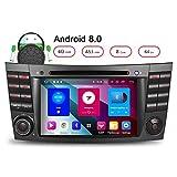 Junhua Mercedes Benz W211 Android 8.0 Autoradio DVD GPS für E/CLS/G Klasse W219 4G RAM Unterstützt Bluetooth DAB+ OBD2 DVBT WLAN 4G 7 Farben Beleuchtung Android Auto USB MicroSD Subwoofer MirrorLink AV-OUT Fastboot