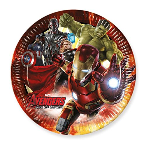 23cm Avengers Age of Ultron Party Teller, 8Stück (Ice Age Party Supplies)