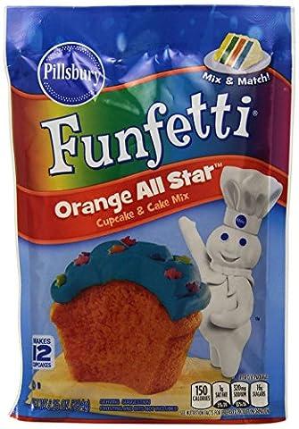 PILLSBURY FUNFETTI ORANGE ALL STAR CUPCAKE & CAKE MIX 234g POUCH