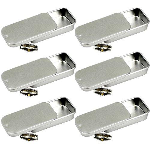 Mighty Gadget (R) Mini-Größe, leer, Schiebedeckel, Survival-Dose, für Geocaching oder Survivalausrüstung, 6 Stück