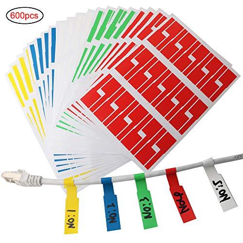 RUNCCI 600pcs Etiqueta etiqueta adhesiva multiusos
