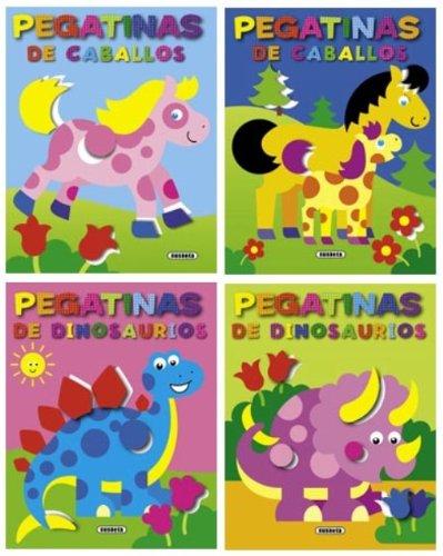 Pegatinas fáciles (Pack de 4 libros) (Pegatinas faciles) por Susaeta Ediciones S A