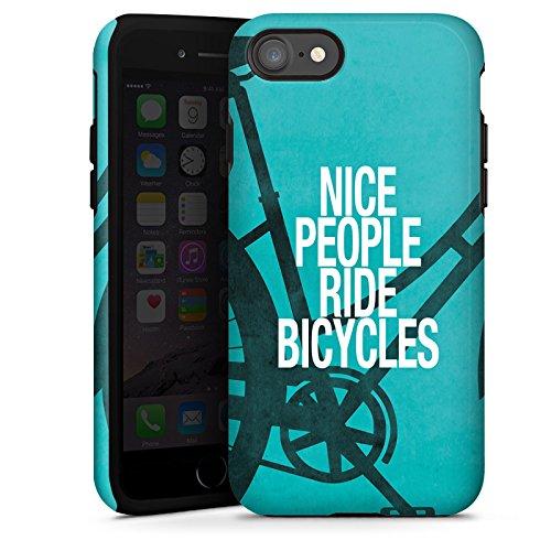 Apple iPhone X Silikon Hülle Case Schutzhülle Fahrrad Sprüche Bicycle Tough Case glänzend