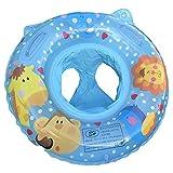 Branger Gommone Gonfiabile, Giochi Gonfiabili Bambini, Assistenza al Nuoto in PVC Sicuro per 0-2 Anni Baby, Cute Animals Painting Design 60 * 60 CM