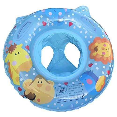 Branger Schwimmring Baby, Aufblasbarer Schwimmring Baby, Safe PVC Schwimmhilfe für 0-2 Jahre Baby, Niedliche Tiere Malerei Design 60 * 60 cm