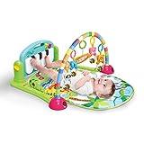 4in 1, Klavier und Fitnessstudio, Unisex-Fitness-Spielmatte-Aktivität, Spielmatte, weich, Spielzeug, mit Licht und Sound Spielmatte, Teppich für Kinder und Spielmatte, die Kleinkinder Neugeborene, 0–36Monate