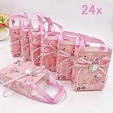 JZK 24 Rosa bustine confetti carta buste portaconfetti sacchetti bomboniere segnaposto per battesimo nascita comunione compleanno bimba bambina ragazza